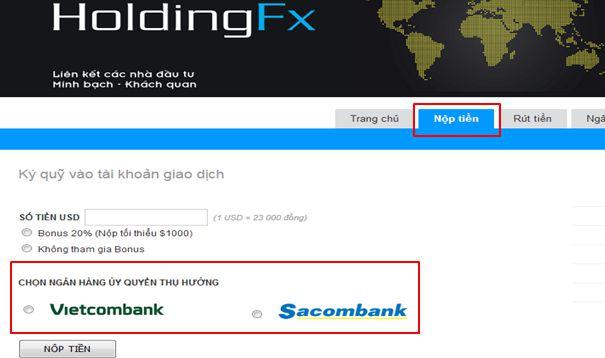 Holdingfx lừa đảo không và cách nạp tiền