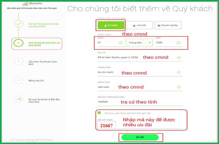 Huong dan mo tai khoan ic markets 3