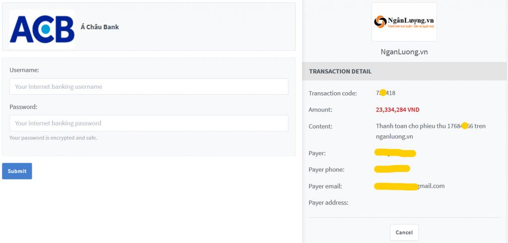Cách nạp tiền vào sàn xm.com bằng internet banking 3